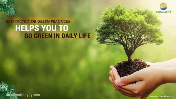 Eco tactics : Green practices helps you to go green