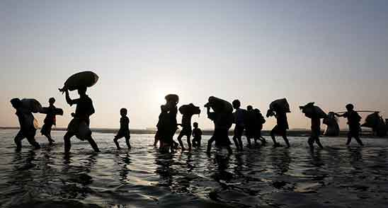 Neoliberalism emphasizes Climate change and refugee problems
