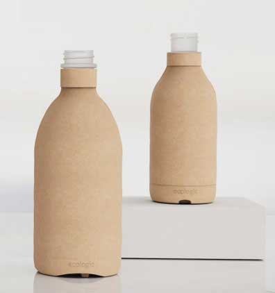 Examples of Biodegradable Packaging Ecologic- Paper Bottles