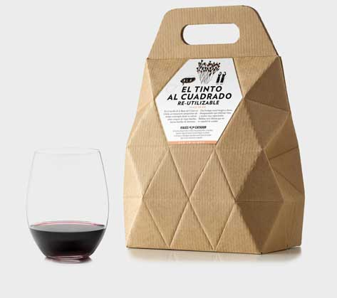 Examples of Biodegradable Packaging nut creative wine box