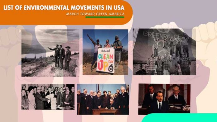 List Of Environmental Movements in USA!!The March toward Green America