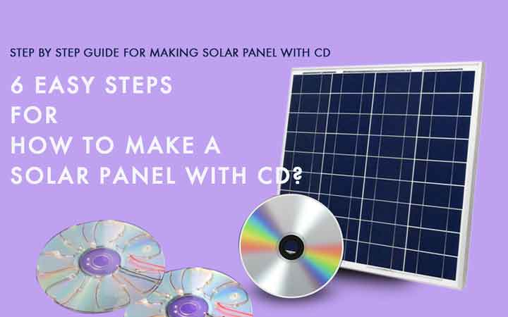 how to make a solar panel with cd